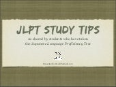 JLPT Study Tips - Japanese Language...