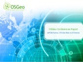 OSGeo Conferences Report