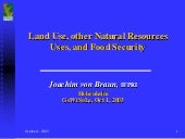 Land Uses, Other Natural Resources ...