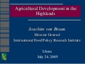Agricultural Development in the Hig...