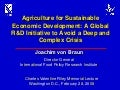 Agriculture for Sustainable Economic Development: A Global R&D Initiative to Avoid a Deep and Complex Crisis