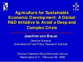 Agriculture for Sustainable Economi...