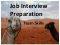 Job Interview Preparation - Team Skills