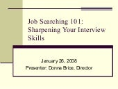 Job Searching 101 Sharpening Your I...