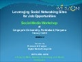 Leveraging Social Networking Sites for Job Opportunities