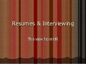 Job Search, Resume & Interview ...
