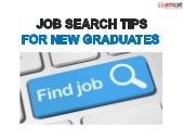 Job Search Tips for New Graduates