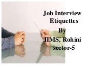 Jobs Interview Etiquettes