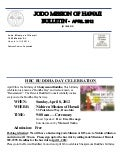 Jodo Mission of Hawaii Bulletin - April 2012