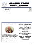 Jodo Mission of Hawaii Bulletin - November 2010