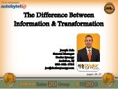 Joe Cala: The Difference Between Information and Transformation