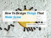 How to Design Things That Make Sense