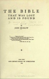 John bigelow-THE-BIBLE-THAT-WAS-LOS...