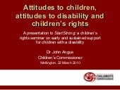 Attitudes To Children - Children's ...