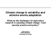 Climate change and variability and ...