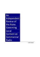 'An Independent Review Of The Rules...