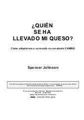 Johnson, spencer   quien se ha llev...
