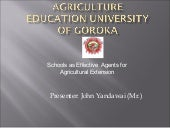 Agriculture Education University of...