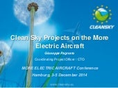 Clean Sky Projects on the More Electric Aircraft