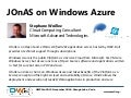 Jonas On Windows Azure OW2con11, Nov 24-25, Paris