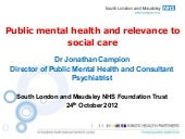 Public mental health and relevance ...