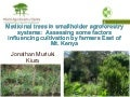 Medicinal Trees in Smallholder Agroforestry Systems by Jonathan Muriuki  25 january 2011