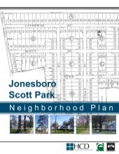 Jonesboro Scott Park Neighborhood Plan
