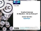 UKSG webinar - Creative Commons and Education – are we there yet? with Joscelyn Upendran
