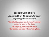 Joseph Campbell's - Hero's Journey