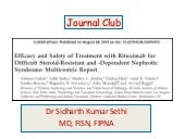 Rituximab Journal Club