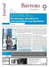 Journal du barreau 08 2013