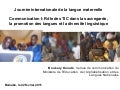 MALI - International Language Day - Journée internationale de la langue maternelle powerpoint   boukary konaté mali