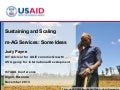 Sustaining and Scaling m-AG Services: Some Ideas