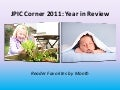 JPIC Corner 2011: Year in Review