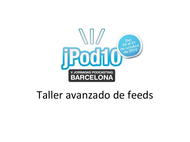 Taller de feeds para podcasts