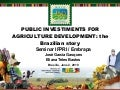 Public Investments for Agriculture Development: The Brazilian Story