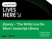 J Query   The Write Less Do More Ja...