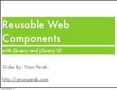 Writing Reusable Web Components with jQuery and jQuery UI