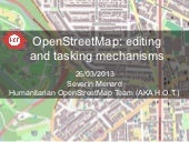 JRC OpenStreetMap, editing and task...
