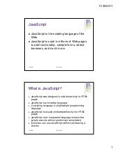 Java Script notes