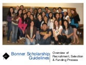2015 New Director Orientation - Bonner Scholar Recruitment, Selection and Financial Aid