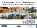 A Framework for Information Access in Rural and Remote Communities