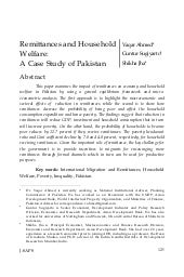 Remittances and Household Welfare i...