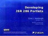 Developing JSR 286 Portlets