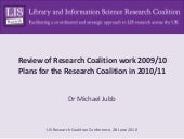 Review of the work of the LIS Resea...