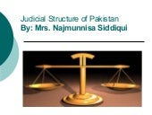 Judicial Structure Of Pakistan