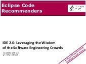 Eclipse Code Recommenders @ cross-e...