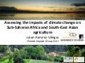 Julian R  - Assessing the Impacts of Climate Change on SSAn and SEAn Agriculture (PhD transfer)