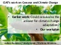 Julian R - CIATs Work on Cassava and Climate Change