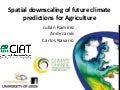 Julian R - Spatial downscaling of future climate predictions for agriculture CIP Lima March 2011